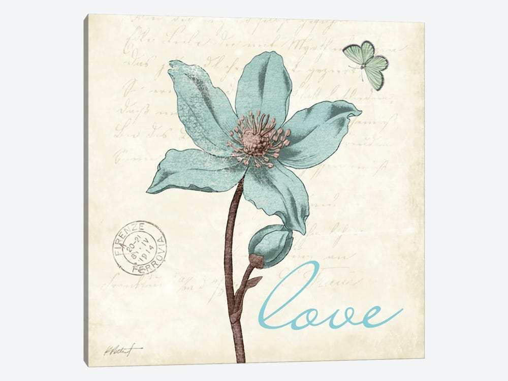 Touch of Blue IV - Love by Katie Pertiet 1-piece Canvas Wall Art
