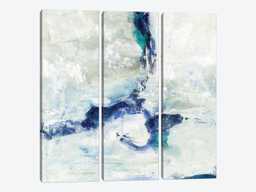 White And Blue by Silvia Vassileva 3-piece Canvas Wall Art