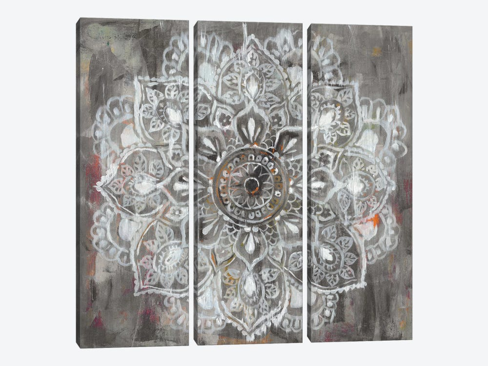 Mandala in Neutral II by Danhui Nai 3-piece Canvas Print