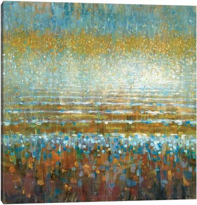 Rains Over The Lake Canvas Art Print