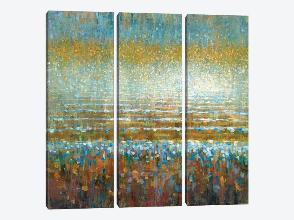 Rains Over The Lake by Danhui Nai 3-piece Canvas Artwork