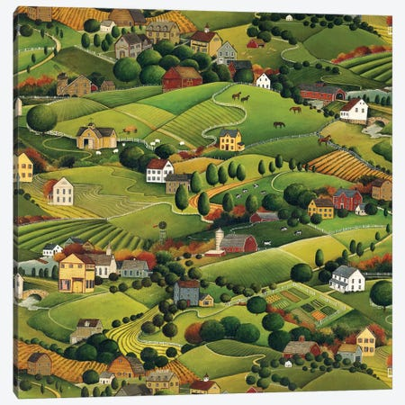 Pleasant Valley Canvas Print #WAC5769} by David Carter Brown Art Print