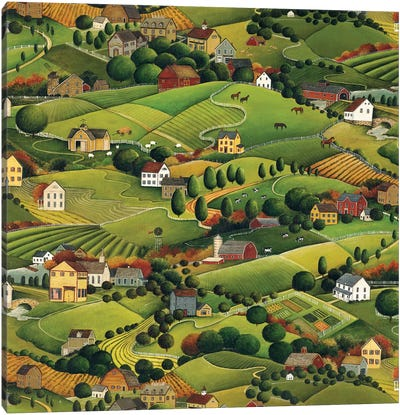 Pleasant Valley Canvas Art Print