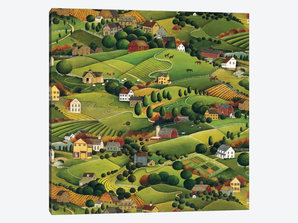 Pleasant Valley by David Carter Brown 1-piece Canvas Art
