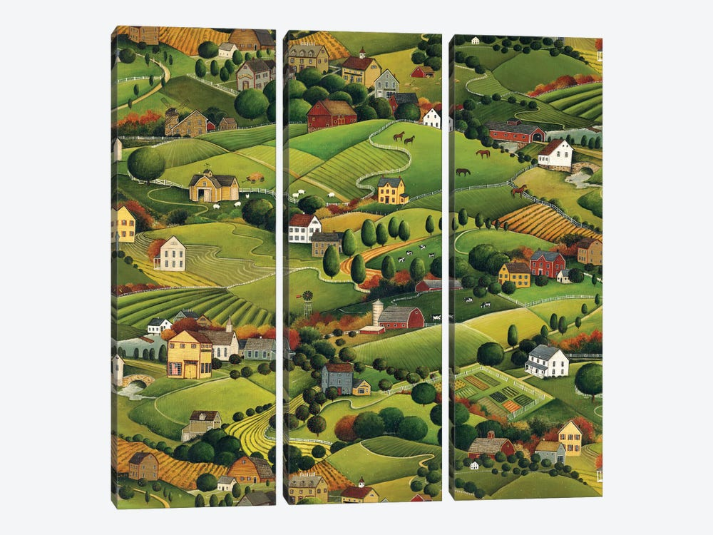 Pleasant Valley by David Carter Brown 3-piece Canvas Wall Art