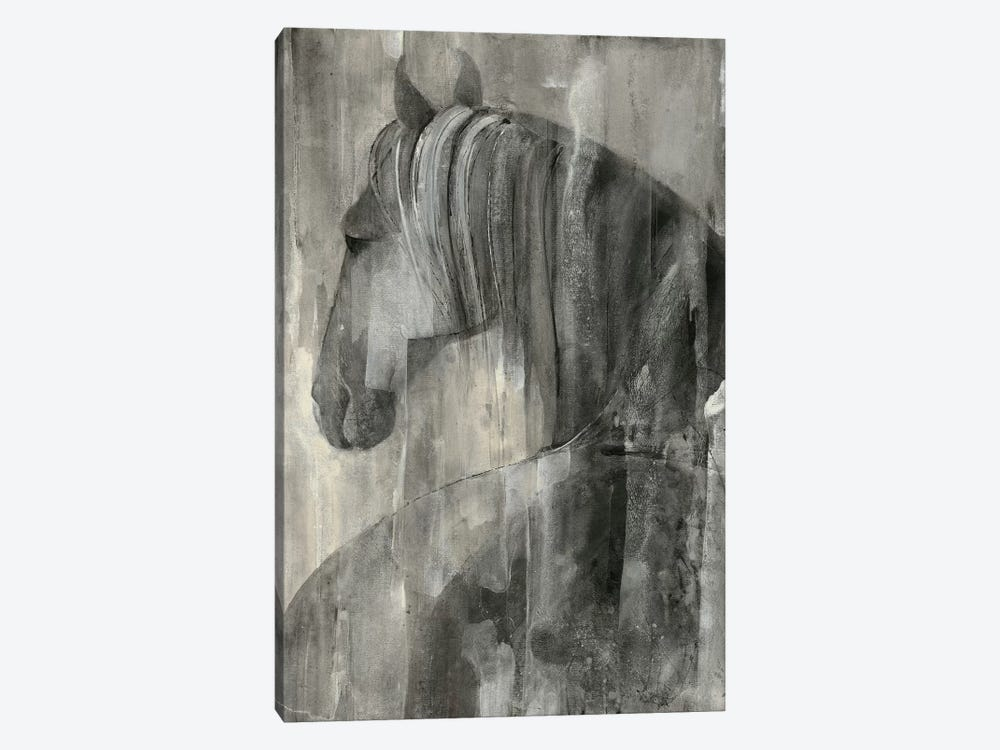 Glance Greige by Albena Hristova 1-piece Canvas Print