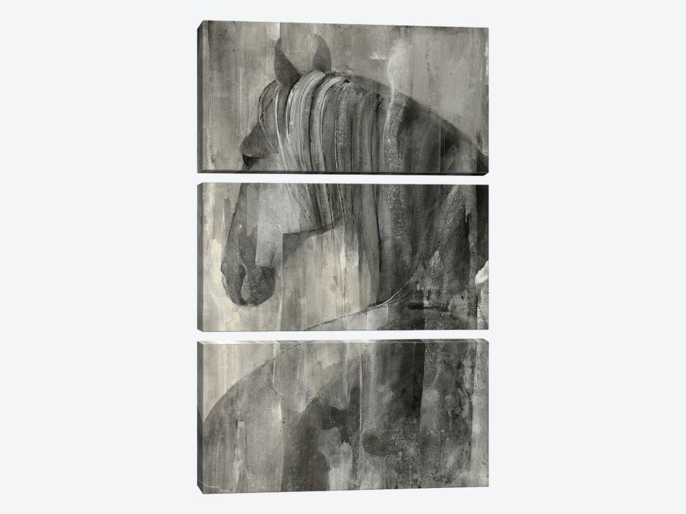 Glance Greige by Albena Hristova 3-piece Canvas Print