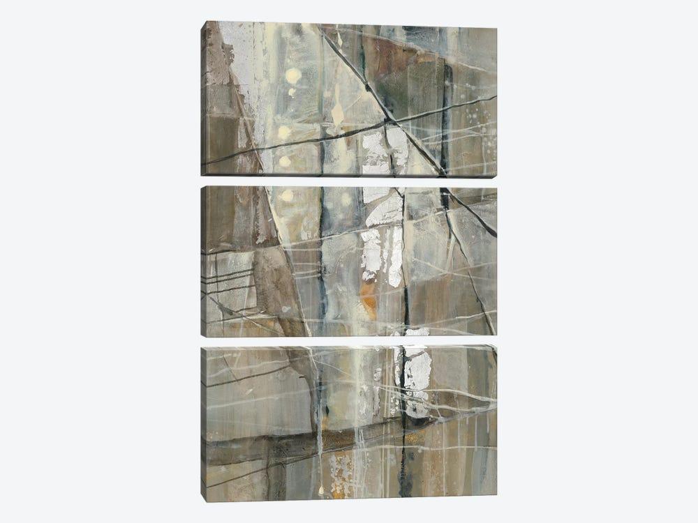 Silver III by Albena Hristova 3-piece Canvas Wall Art