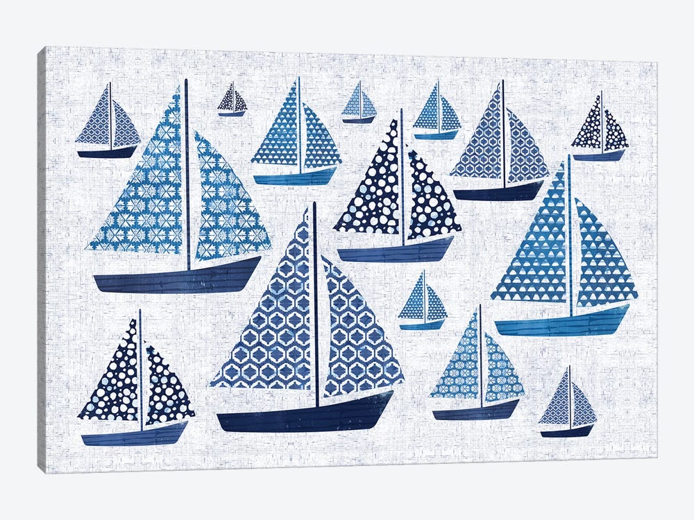 Sunday On The Coast I by Pela 1-piece Canvas Print