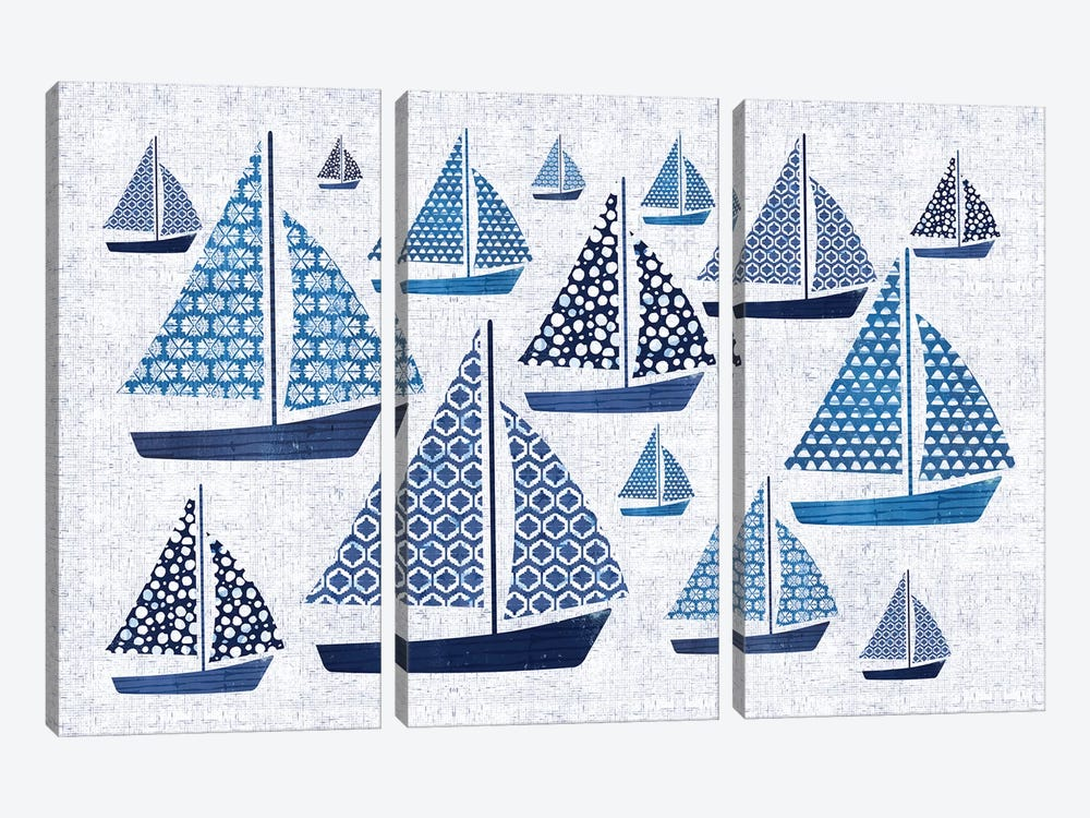 Sunday On The Coast I by Pela 3-piece Art Print