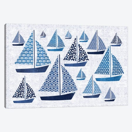 Sunday On The Coast I Canvas Print #WAC5786} by Pela Canvas Art