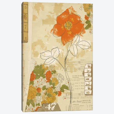 Collaged Botanicals I Canvas Print #WAC578} by Katie Pertiet Canvas Art