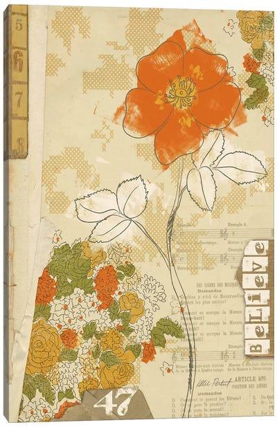 Collaged Botanicals I Canvas Print #WAC578