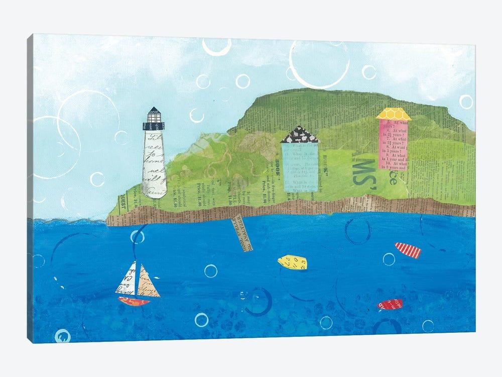 Coastal Harbor I by Courtney Prahl 1-piece Canvas Artwork