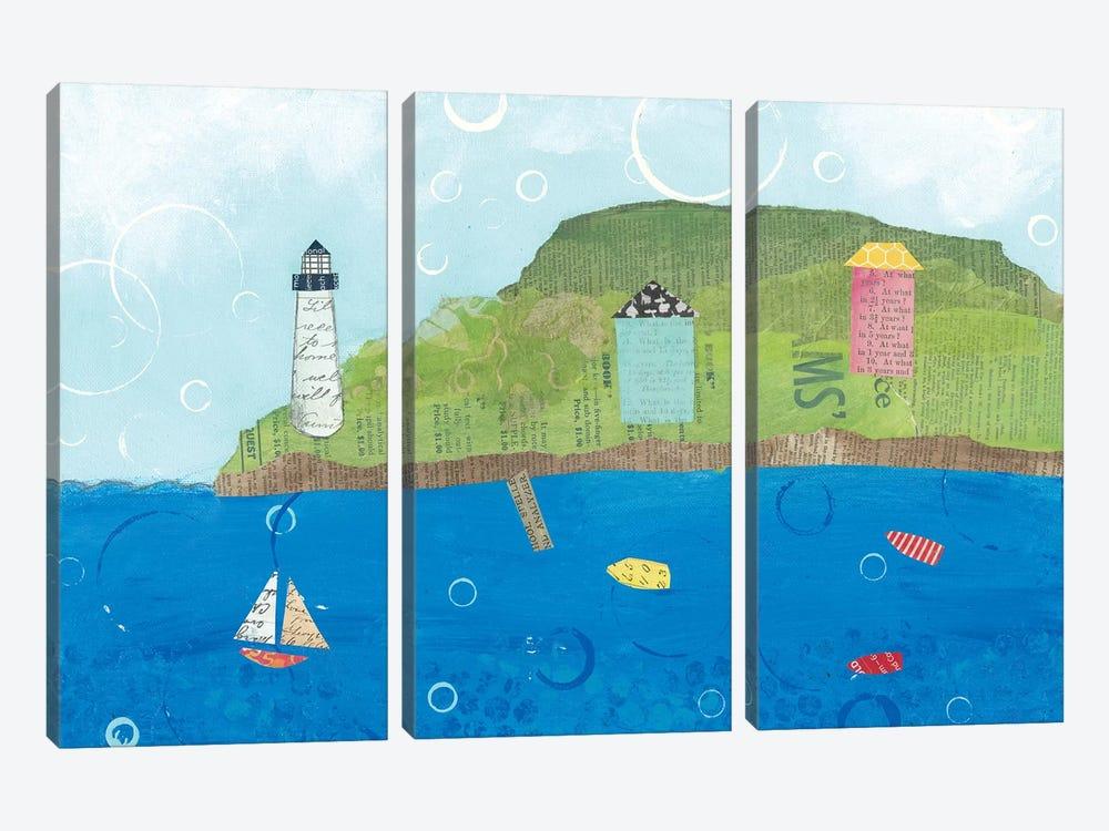 Coastal Harbor I by Courtney Prahl 3-piece Canvas Wall Art