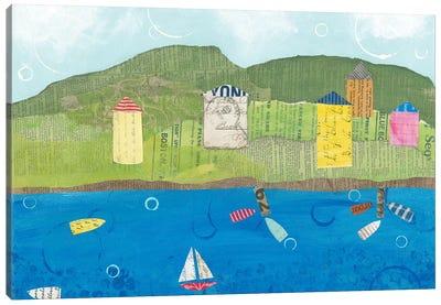 Coastal Harbor II Canvas Art Print