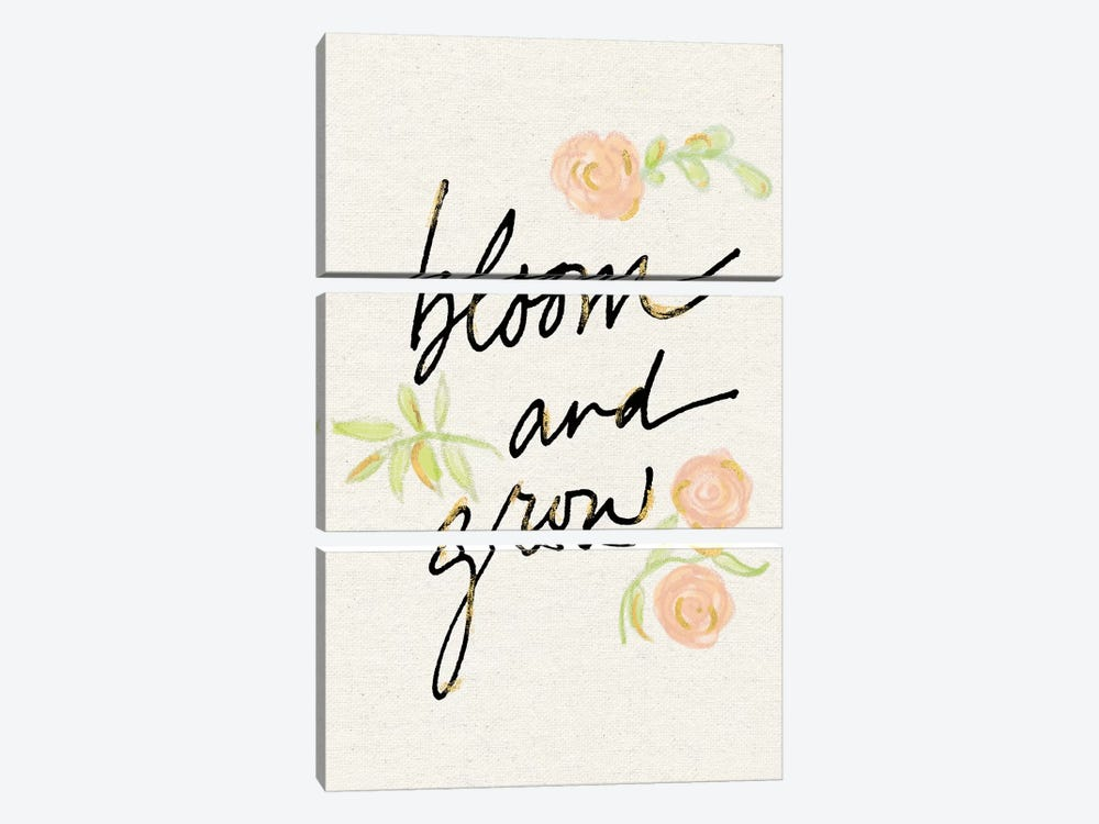 Bloom And Grow by Sue Schlabach 3-piece Art Print