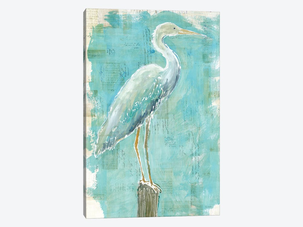 Coastal Egret I by Sue Schlabach 1-piece Canvas Art