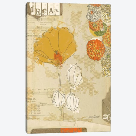 Collaged Botanicals II Canvas Print #WAC579} by Katie Pertiet Canvas Artwork