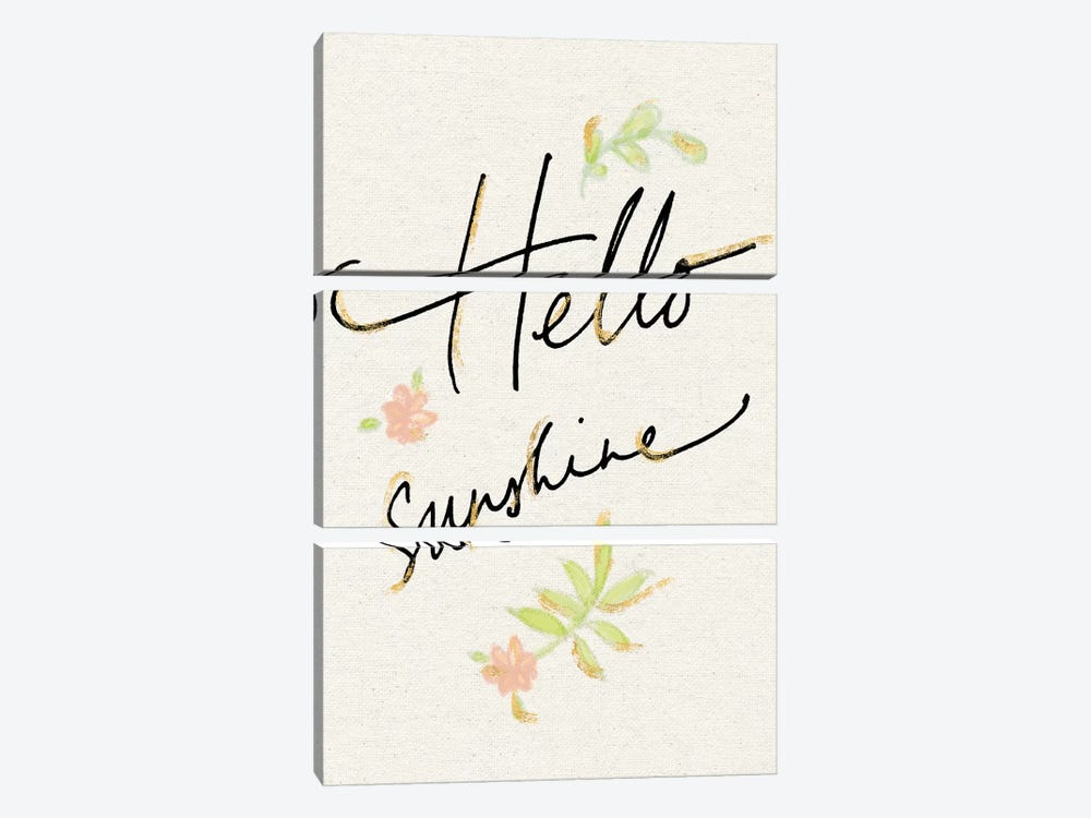 Hello Sunshine by Sue Schlabach 3-piece Canvas Art Print