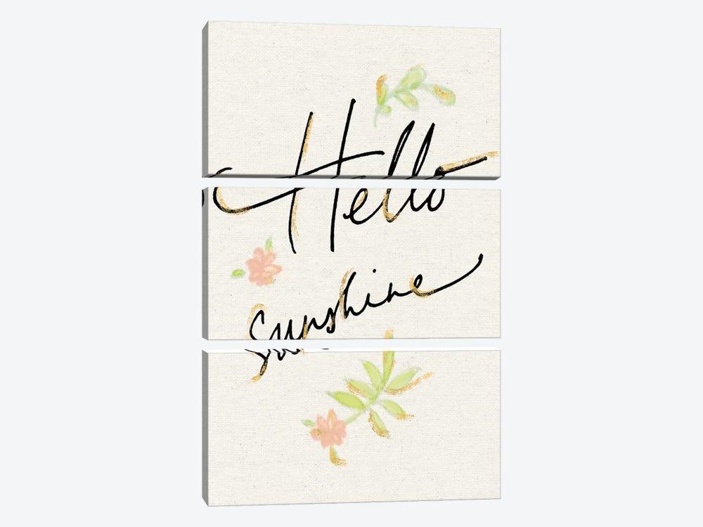 Hello Sunshine by Sue Schlabach 3-piece Canvas Art Print