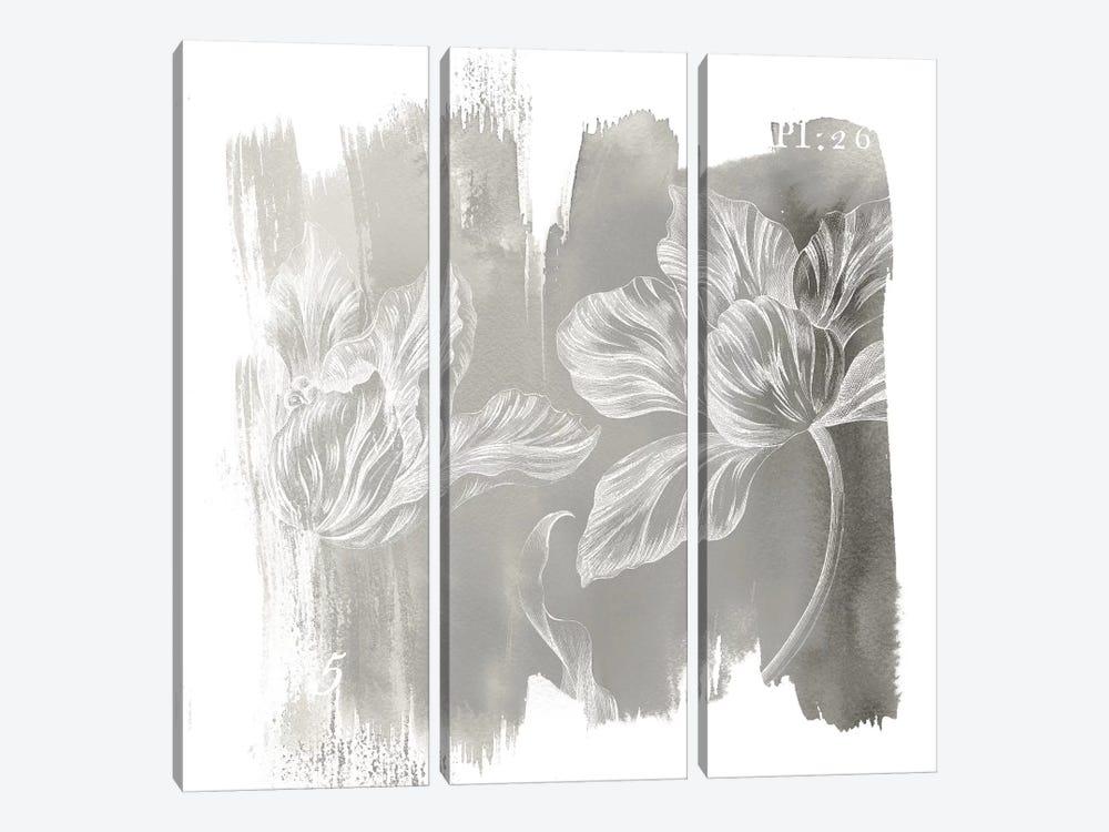 Neutral Water Wash II by Sue Schlabach 3-piece Canvas Print