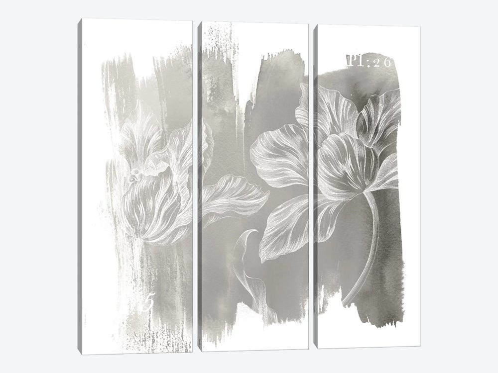 Neutral Water Wash II by Sue Schlabach 3-piece Canvas Print