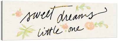Sweet Dreams Little One Canvas Art Print