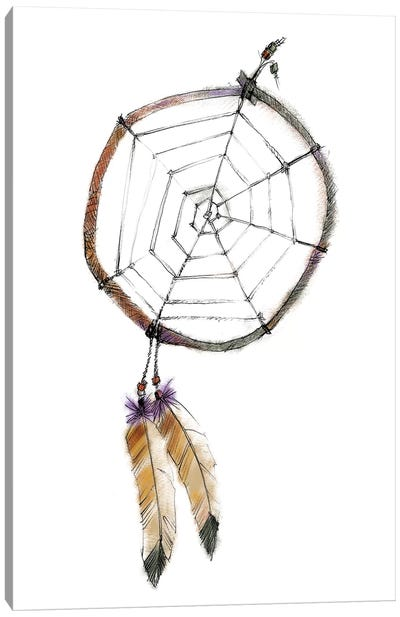 Indian Dreamcatcher Canvas Print #WAC5811