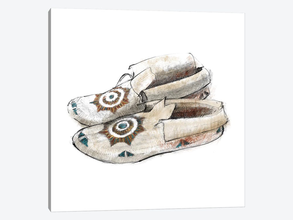 Indian Moccasins by Avery Tillmon 1-piece Canvas Wall Art