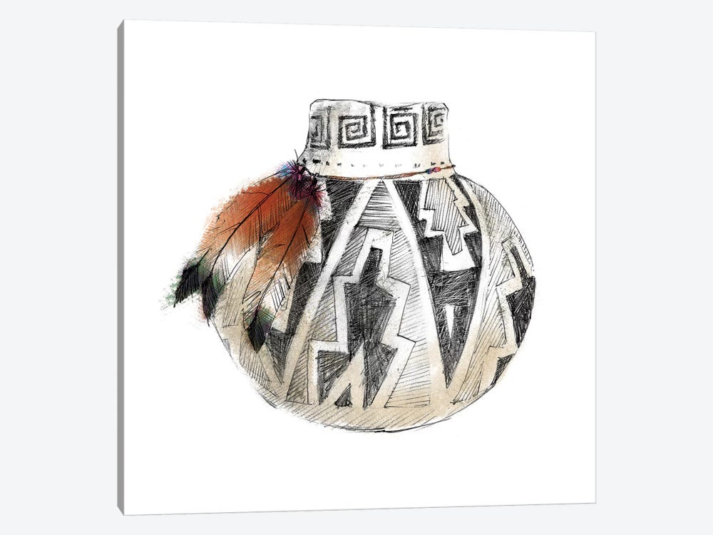 Indian Pottery by Avery Tillmon 1-piece Canvas Art Print