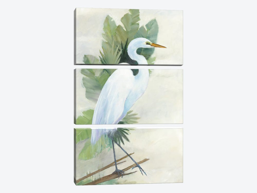 Standing Egret I by Avery Tillmon 3-piece Canvas Art