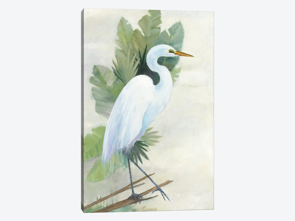 Standing Egret I by Avery Tillmon 1-piece Canvas Wall Art