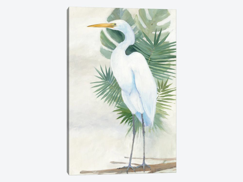Standing Egret II by Avery Tillmon 1-piece Canvas Art Print