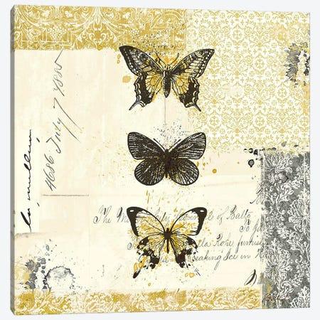Golden Bees n' Butterflies No. 2 Canvas Print #WAC581} by Katie Pertiet Canvas Print