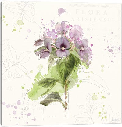 Floral Splash III Canvas Art Print