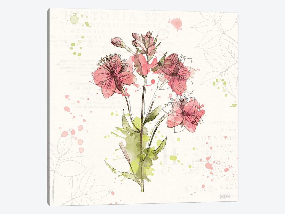 Floral Splash V by Katie Pertiet 1-piece Art Print