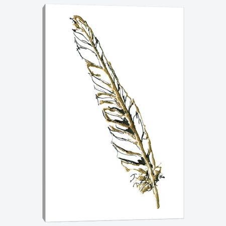 Gilded Swan Feather I Canvas Print #WAC5825} by Chris Paschke Art Print