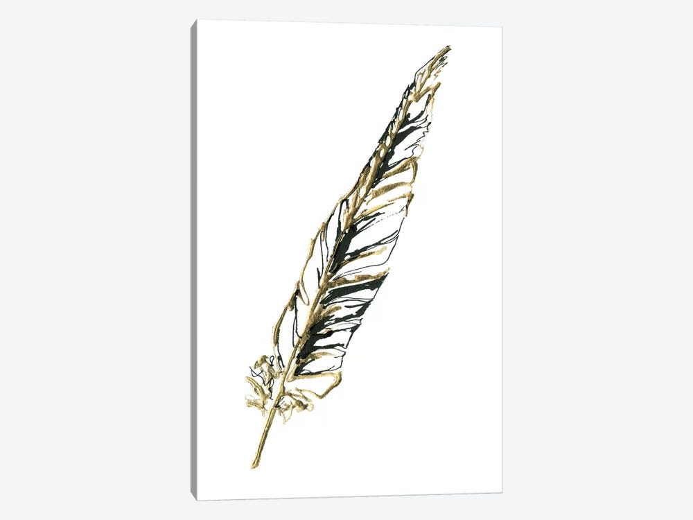 Gilded Swan Feather II by Chris Paschke 1-piece Art Print