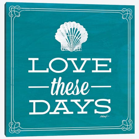 Love these Day Blue Canvas Print #WAC583} by Katie Pertiet Art Print