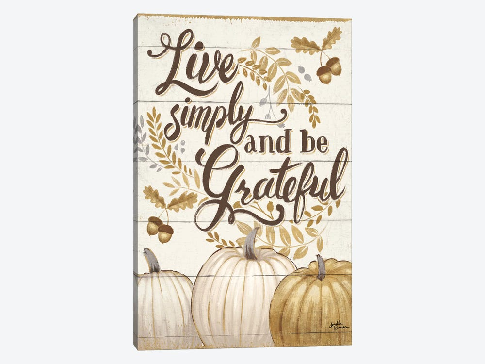 Grateful Season I by Janelle Penner 1-piece Canvas Wall Art