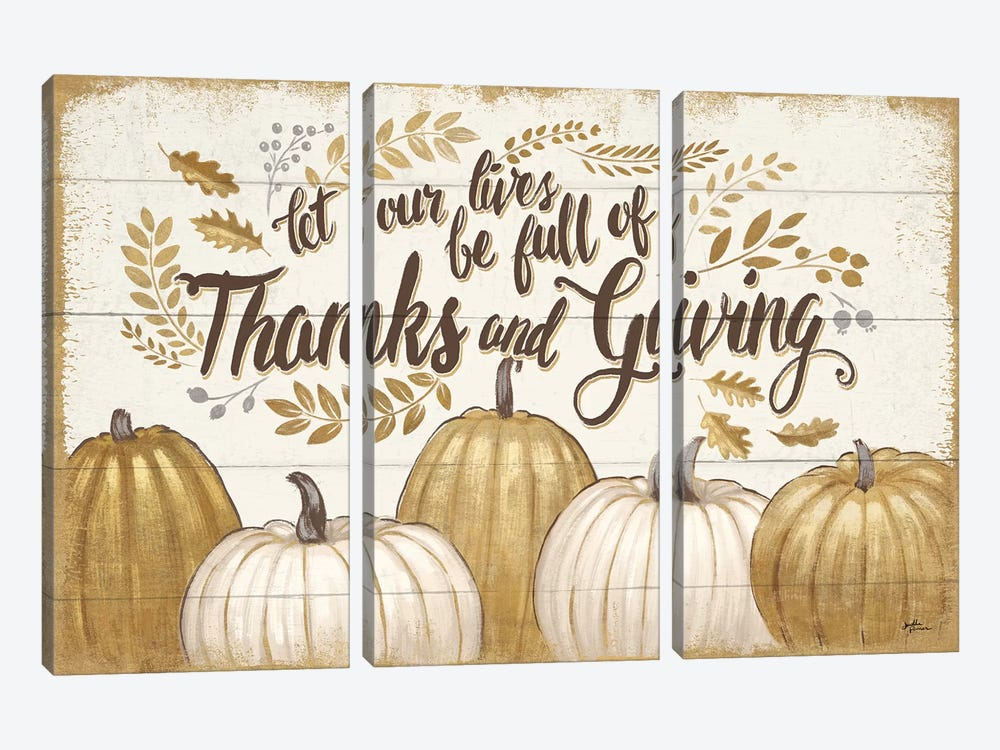Grateful Season V by Janelle Penner 3-piece Canvas Wall Art