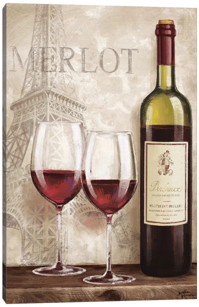 Wine In Paris III Canvas Art Print