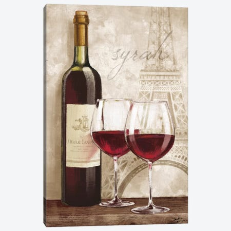 Wine In Paris IV Canvas Print #WAC5855} by Janelle Penner Canvas Artwork