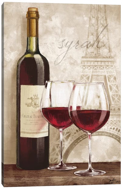 Wine In Paris IV Canvas Art Print