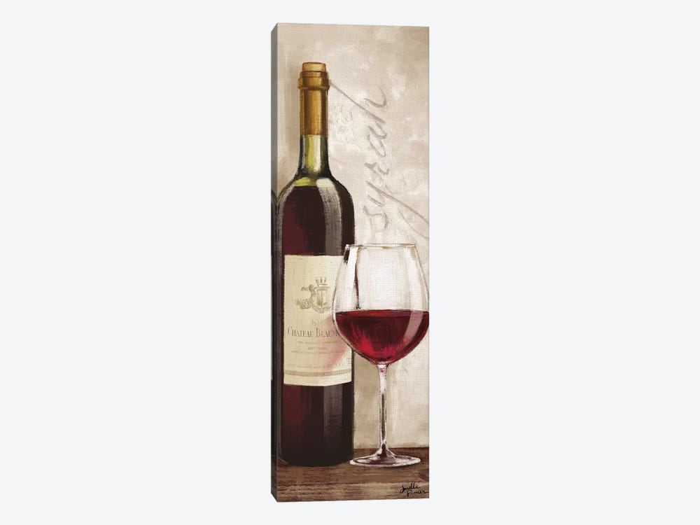 Wine In Paris VI by Janelle Penner 1-piece Canvas Print
