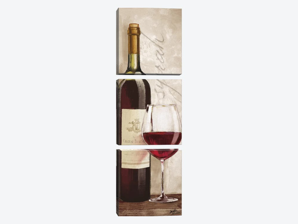 Wine In Paris VI by Janelle Penner 3-piece Canvas Print