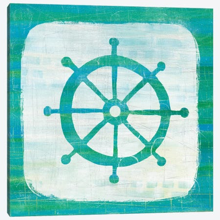 Ahoy IV in Blue & Green Canvas Print #WAC5861} by Melissa Averinos Canvas Artwork