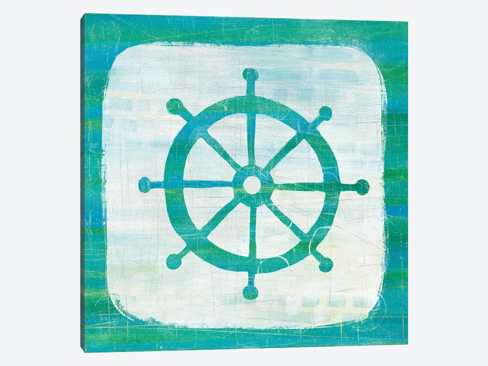 Ahoy IV in Blue & Green by Melissa Averinos 1-piece Canvas Art