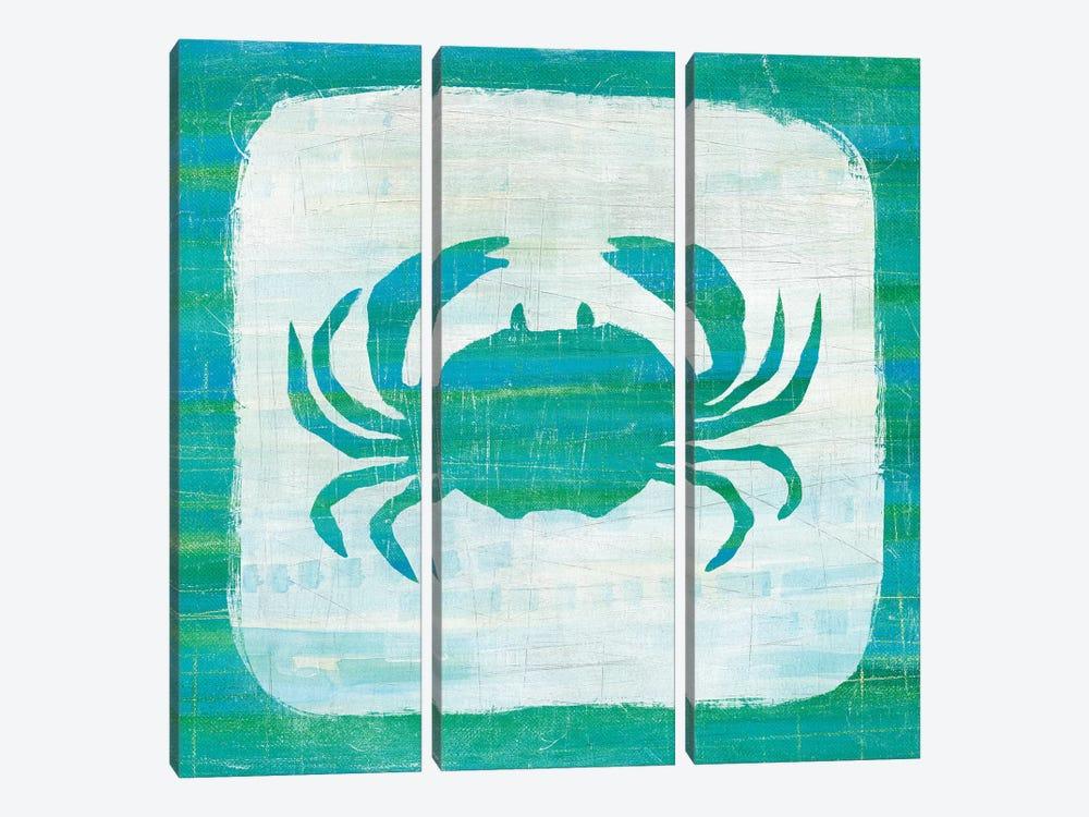 Ahoy V in Blue & Green by Melissa Averinos 3-piece Canvas Art Print